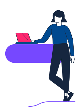character-woman-standing-laptop